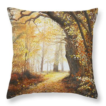 Come With Me Throw Pillow by Sorin Apostolescu