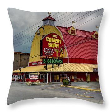 Comedy Barn Pigeon Forge Throw Pillow