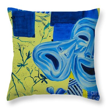 Comedy Or Tragedy Throw Pillow