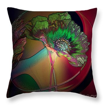 Throw Pillow featuring the photograph Comely Cosmos by Irma BACKELANT GALLERIES