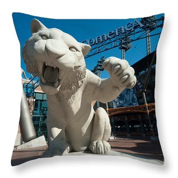 Comerica Park Entrance Throw Pillow