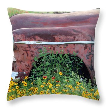 Comes With Flowers Throw Pillow