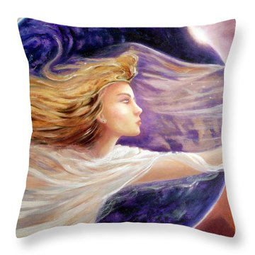 Comet Dreamer Voyage  Throw Pillow