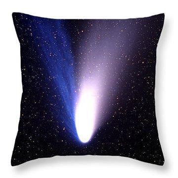 Comet Hale-bopp Throw Pillow by Mark Allen