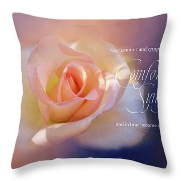 Comfort And Sympathy Throw Pillow