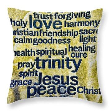 Throw Pillow featuring the photograph Comfort Words by Jean OKeeffe Macro Abundance Art