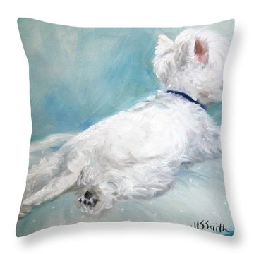 Comfort Zone Throw Pillow by Mary Sparrow