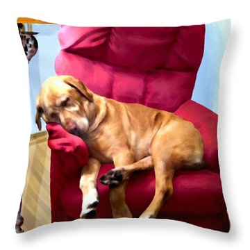 Comfortable Canine Throw Pillow