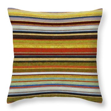 Comfortable Stripes Vl Throw Pillow