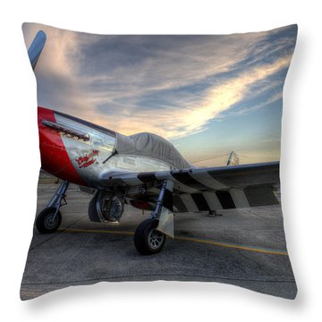 Comfortably Numb Buttoned Up For The Night At The Hollister Airshow Throw Pillow