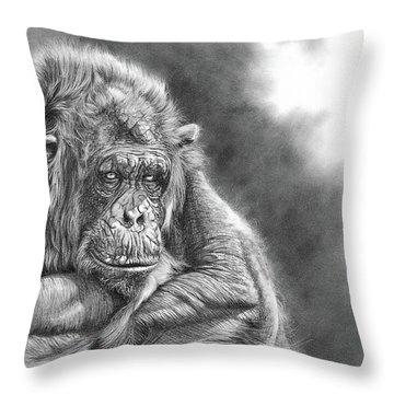 Comfortably Numb Throw Pillow