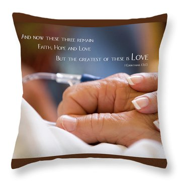 Comforting Hand Of Love Throw Pillow