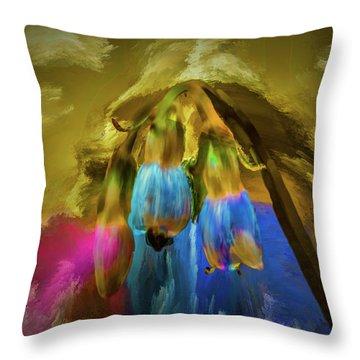 Comfrey Paint #h8 Throw Pillow