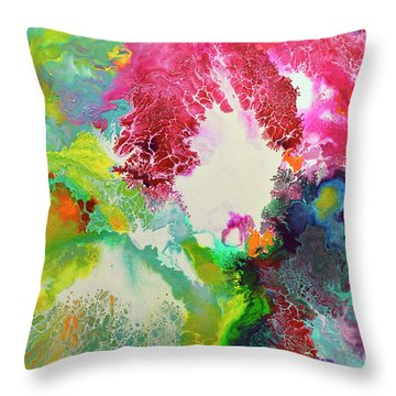 Coming Alive 3 Throw Pillow