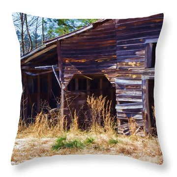 Coming Apart With Character Barn Throw Pillow