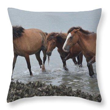 Coming Ashore Throw Pillow