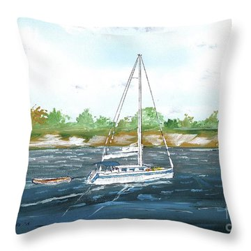 Coming Back To The Isle Of Palms Throw Pillow