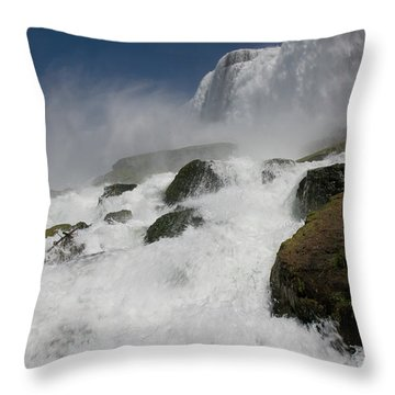 Throw Pillow featuring the photograph Coming Close To Niagara Falls by Jeff Folger