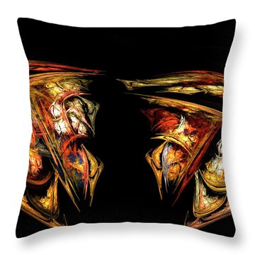 Coming Face To Face Throw Pillow