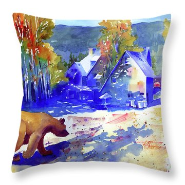 Coming For Dinner At Rainbow Lodge Throw Pillow