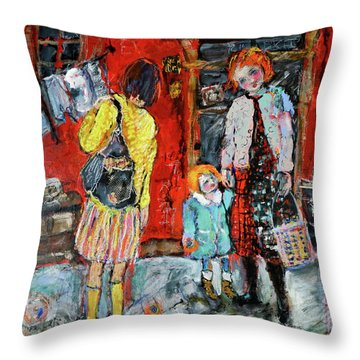 Coming For You Throw Pillow by Sharon Furner