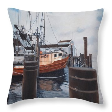 Coming Home Throw Pillow by Barbara Barber