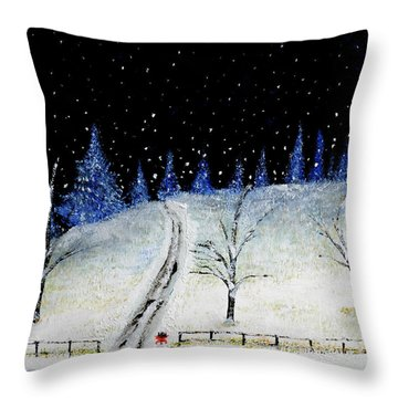 Coming Home For Christmas Throw Pillow
