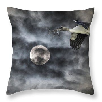 Throw Pillow featuring the photograph Coming Home by Richard Goldman