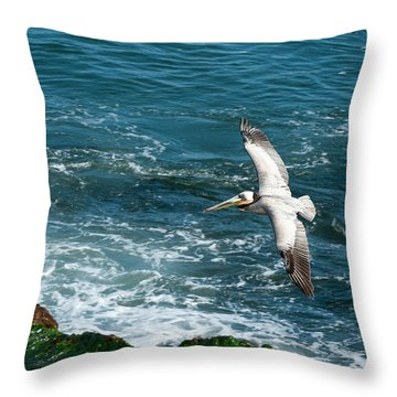 Coming In Throw Pillow by Sandra Bronstein