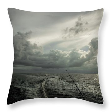 Coming Into Port Throw Pillow