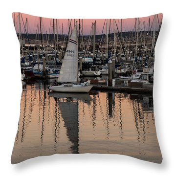 Coming Into The Harbor Throw Pillow