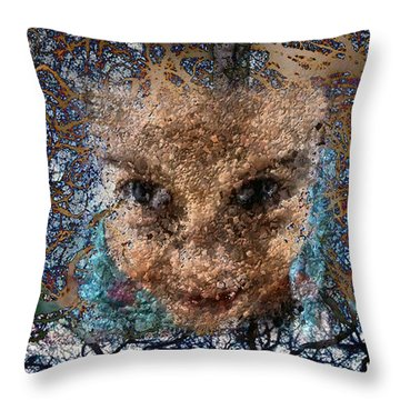 Coming Out Throw Pillow by Ioulia Sotiriou