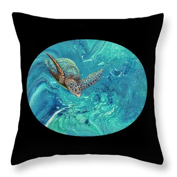 Throw Pillow featuring the painting Coming Out Of The Depths 2 by Darice Machel McGuire