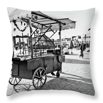 Coming Through... Throw Pillow by Marion Galt