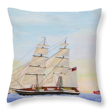 Coming To America - 1872 Throw Pillow by Bill Hubbard