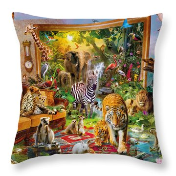 Coming To Room Throw Pillow