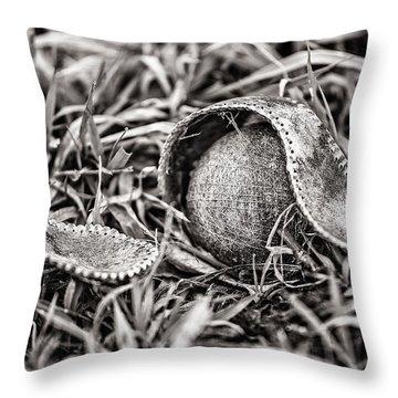 Coming Undone Throw Pillow by CJ Schmit