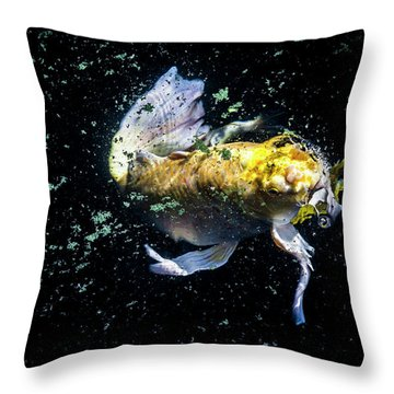Throw Pillow featuring the photograph Coming Up For Air by Eric Christopher Jackson