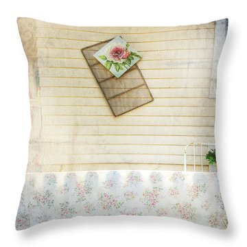 Throw Pillow featuring the photograph Coming Up Roses by Craig J Satterlee