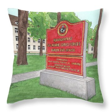 Commander Major General Russell A. Sanborn - Marforeuraf Throw Pillow