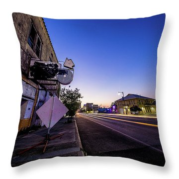 Commerce East Throw Pillow by Micah Goff