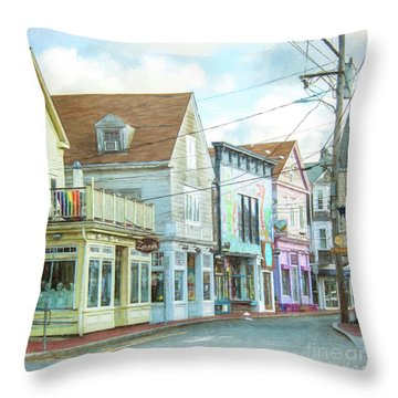 Commercial St #1 Throw Pillow
