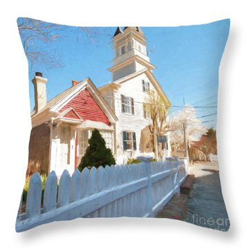 Commercial St. #3 Throw Pillow