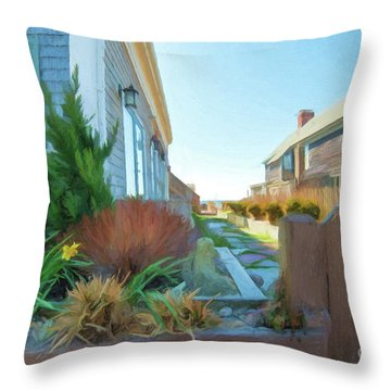 Commercial St. #4 Throw Pillow