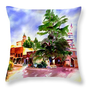 Commercial Street, Old Town Auburn Throw Pillow