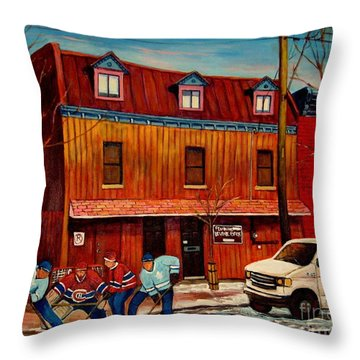 Commission Me Your Store Throw Pillow by Carole Spandau