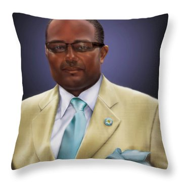 commissioned piece Brian1 Throw Pillow by Reggie Duffie