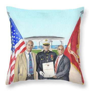 Throw Pillow featuring the painting Commissioning by Betsy Hackett