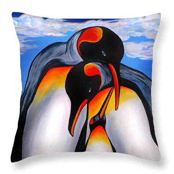 Commitment Throw Pillow by Adele Moscaritolo