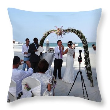 Commitment On The Beach In Kenya Throw Pillow